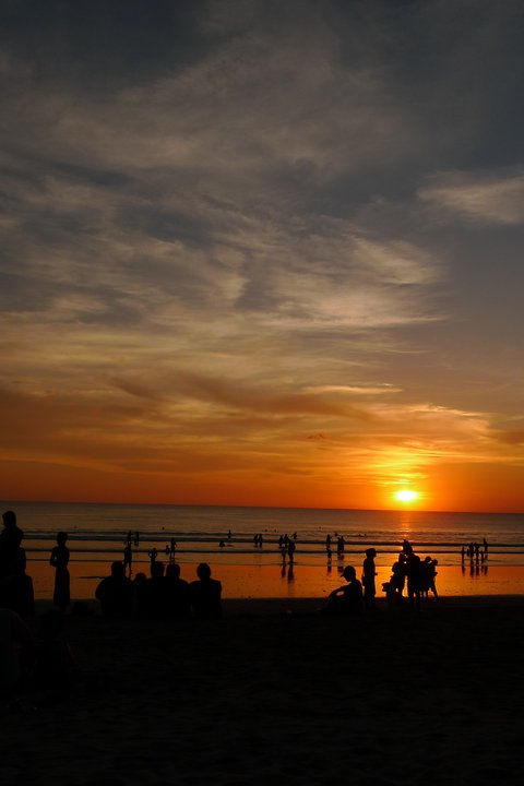 sunset @ kuta beach bali