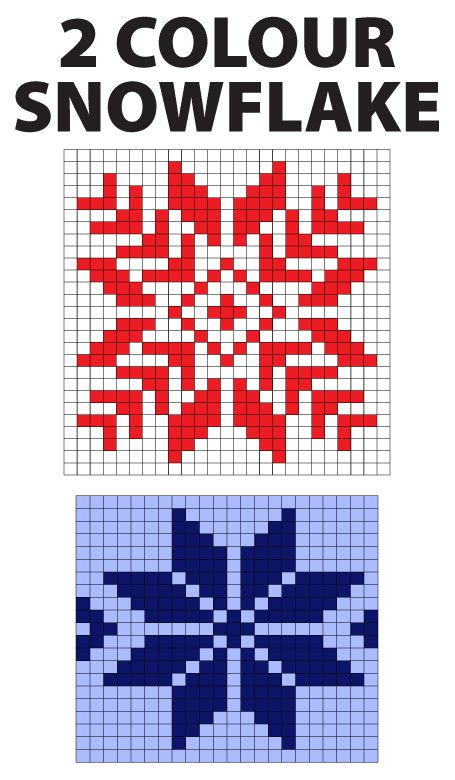 snowflakes knitting charts - Google Search