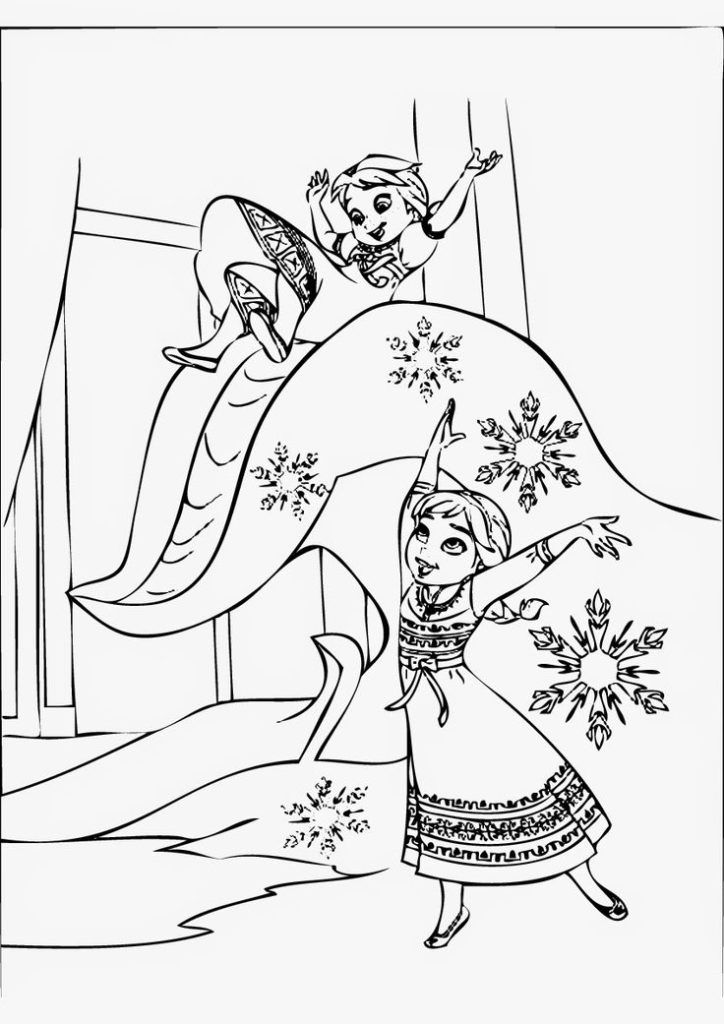 Little Princess Anna And Elsa Coloring Page Collection Of Cartoon Coloring Pages For Teenage Printable In 2020 Elsa Coloring Pages Frozen Coloring Pages Elsa Coloring
