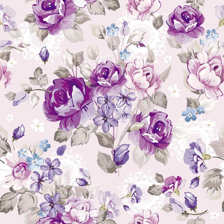 Purple floral design