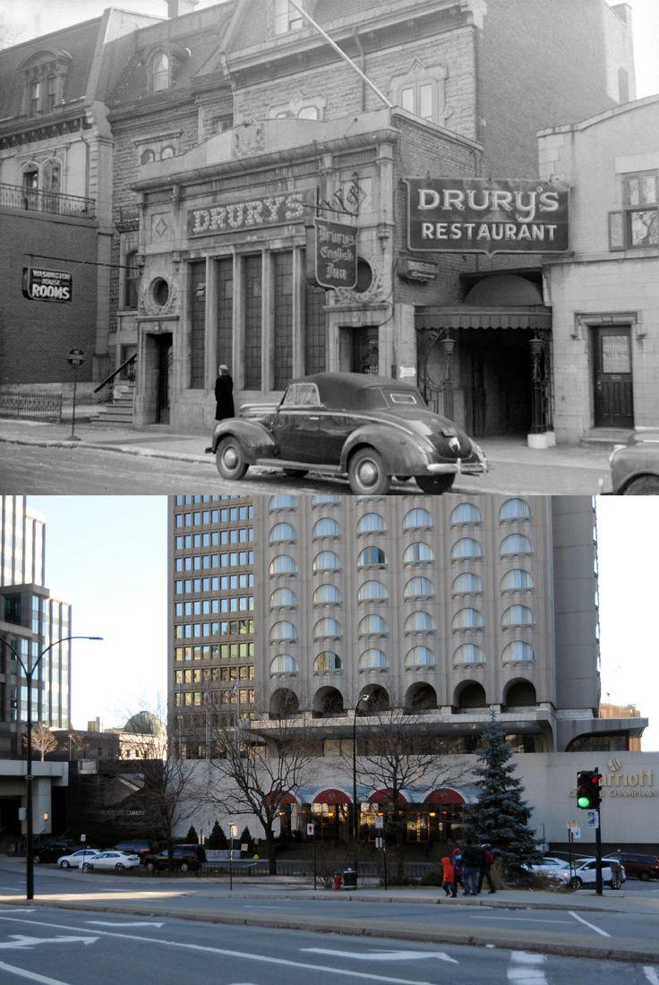 https://flic.kr/p/qomz3M | 1946-2014 | Édifices situés sur la rue de la Gauchetière Ouest près de Peel.  Ces anciennes résidences bourgeoises construites dans les années 1870 au sud du square Dominion (l'actuelle Place du Canada) furent expropriées par la Ville de Montréal en 1959 afin de permettre l'élargissement de la rue de la Gauchetière.  Source : BANQ  © Tous droits réservés : Guillaume St-Jean   Maintenant via Facebook : Montréal Avant-Après…