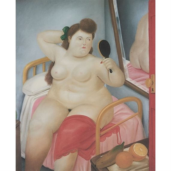 Fernando Botero - La Toilette, 1983, offset color...