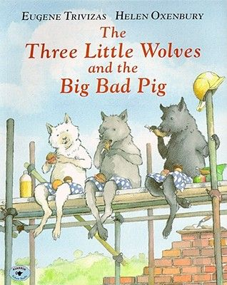 This very funny fractured fairy tale with delicious illustrations by the legendary Helen Oxenbury, will appeal to any young child who just loves knocking things down!   This big bad pig is a can-do kind of fellow and the wolves so post-modern in their choice of house building materials, that an unusual solution to the mayhem has to be found.     Susannah
