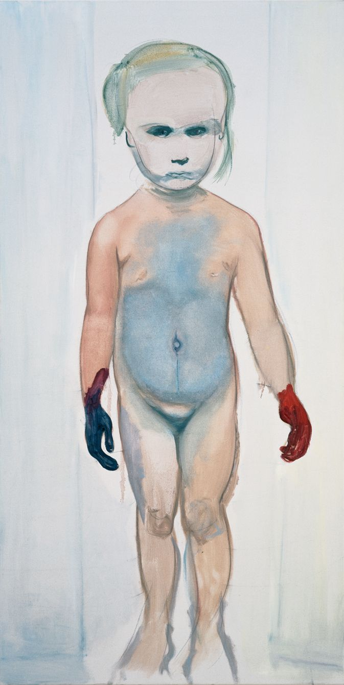 The Painter - 1994 - by Marlene Dumas (South African, b. 1953) - Oil on canvas - 79 x 39-1/4 in - The Museum of Modern Art, New York