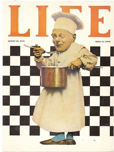Life magazine cover, The Chef with Pot by Maxfield Parrish, August 30, 1923
