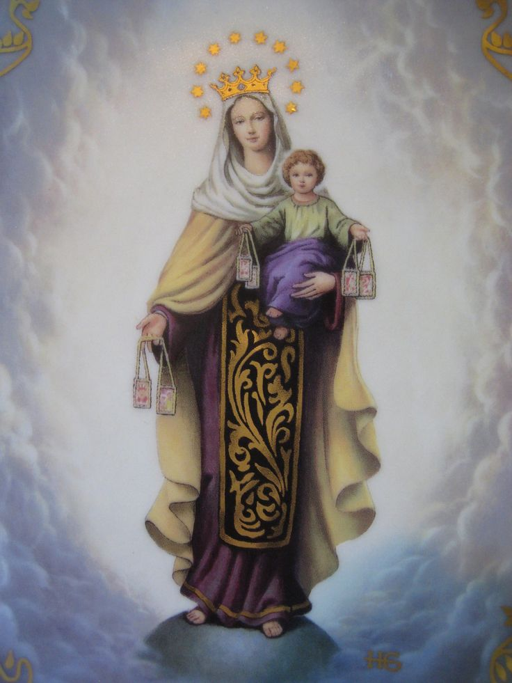 Lady Mt. Carmel | Mary | Pinterest | Lady of mount carmel ...