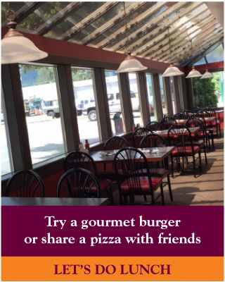 Try a gourmet burger or share a pizza with friends