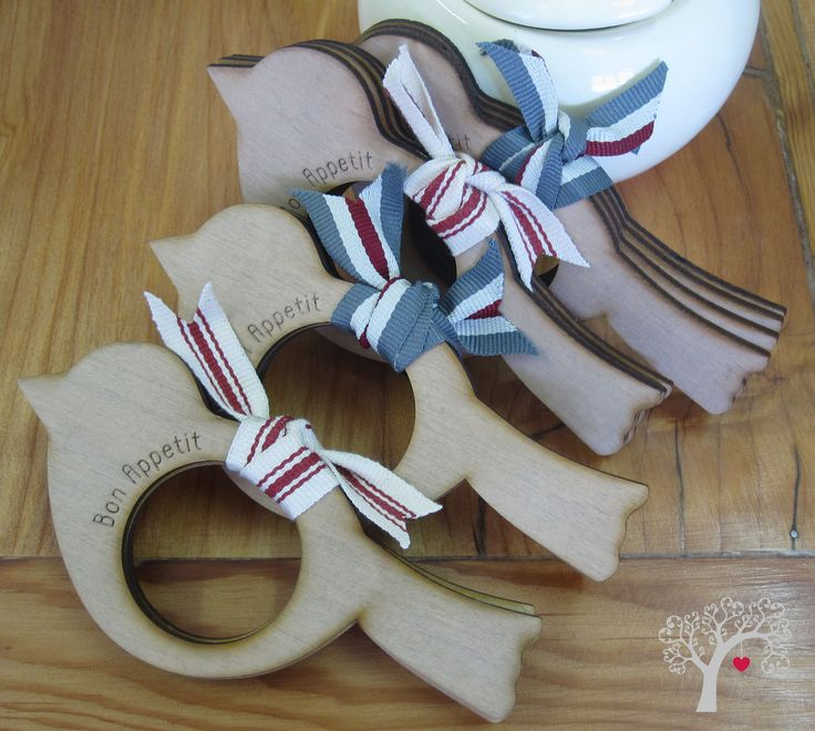 Bird napkin rings