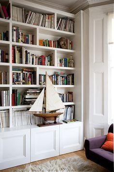contemporary library book shelves - Google Search