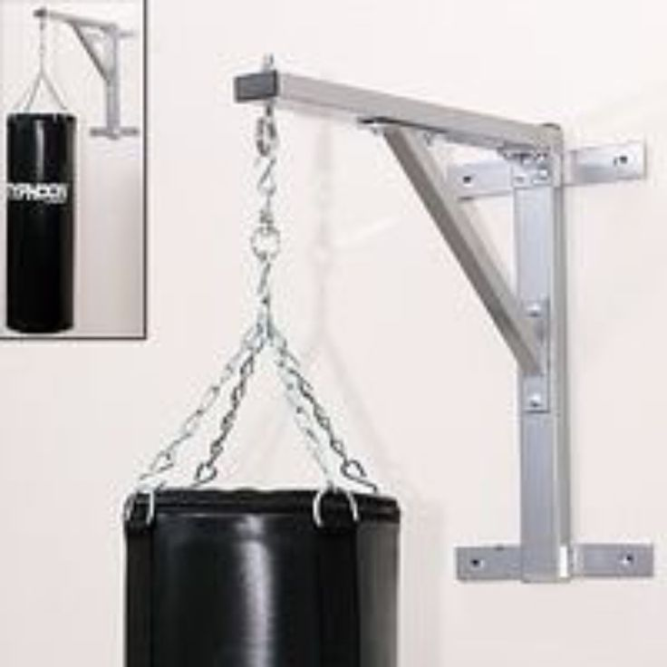 "Punching Bag Heavy Bag Hanger * Extra heavy duty heavy bag wall hanger for serious punching! * Heavy bag hangs approximately 26 inches from the wall. * Made of 3"" tubular steel. Heavy bag not included"