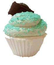 Our Choc Mint Cupcake soap made exclusively at Planet Yum