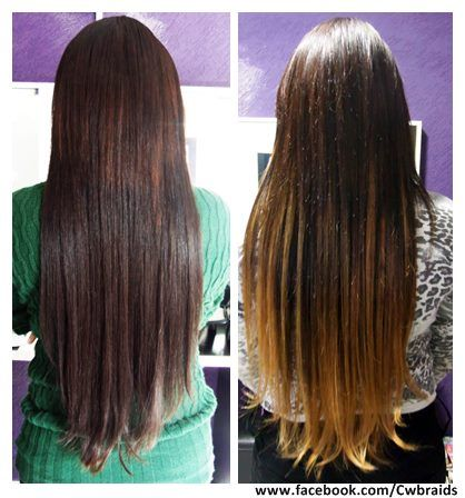 Alongamento tela + ombree hair Cliente: Aline  #ombré #ombreehair #hairextensions #brandnwehair #curitibaafro #amandafarias #hairstylist
