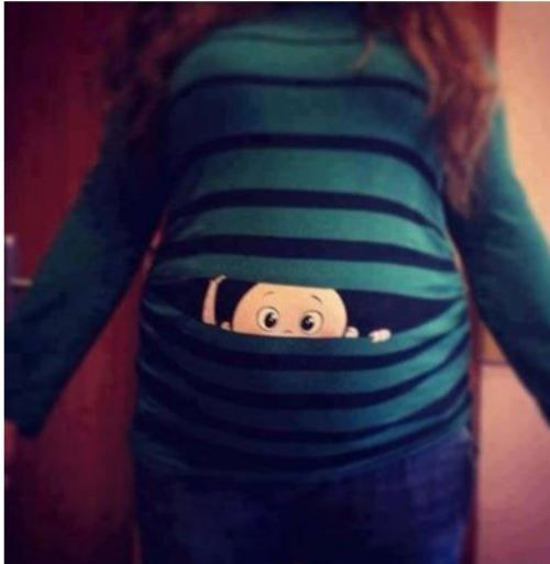 Cute maternity shirt.