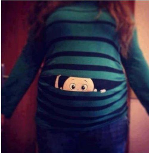 Cute maternity shirt.