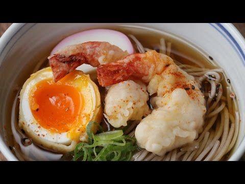 【簡単レシピ】天ぷらそばの作り方 - YouTube