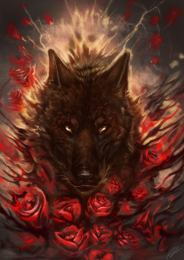 The Bloody Roses by Exileden.deviantart.com on @deviantART Beautiful :)