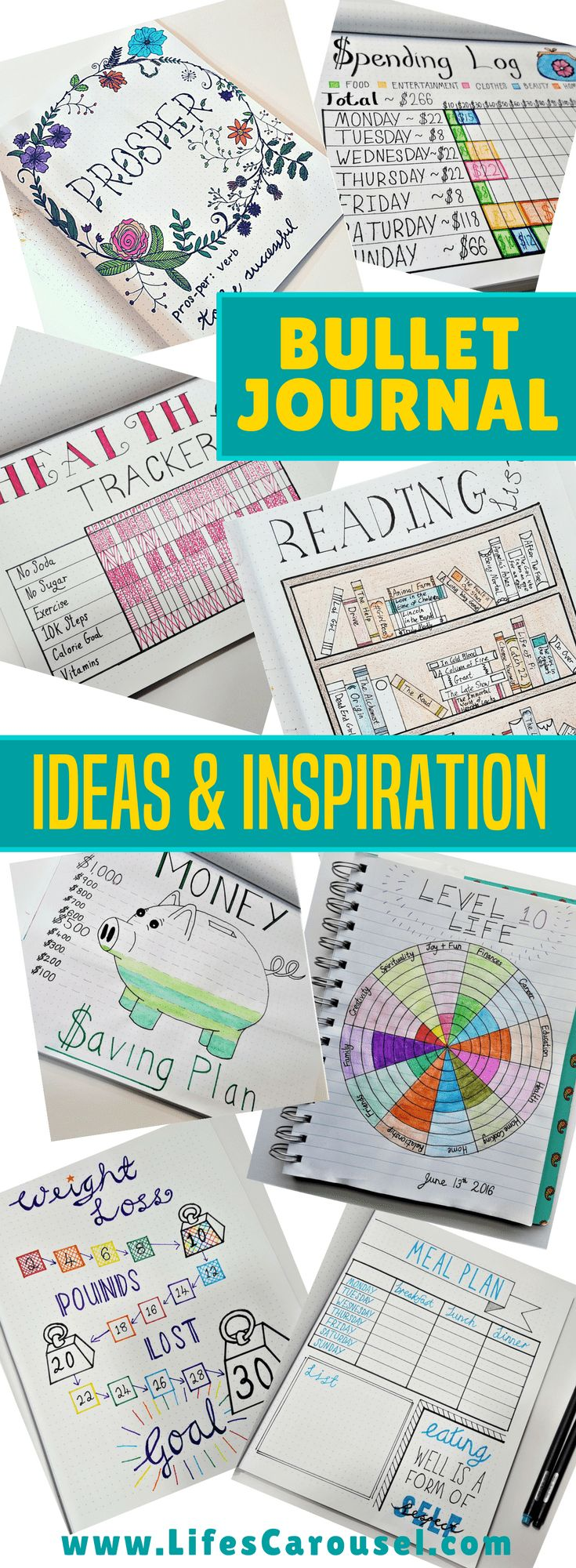 Bullet Journal Inspiration   Ideas for your BuJo - spreads, layouts, trackers and more! Everything from how to start a bullet journal to ideas for trackers and spreads. The ultimate planner collection!
