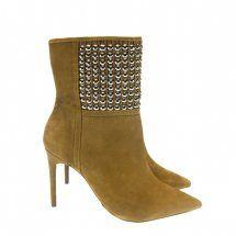 Bota Cano Curto Nobuck Caramelo 9196 Dumond Deluxe - Moselle Calçados femininos
