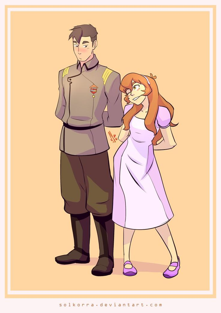Flashback Shiro of the Galaxy Garrison and Pidge (Katie Holt) from Voltron Legendary Defender