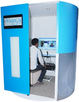 Medical Kiosk is an Interactive Health Monitoring device with user friendly applications. Medical kiosk is designed using advanced telemedicine technology and high end software programs. The device puts people in greater control of their own health, promoting a more proactive approach to health and wellness.