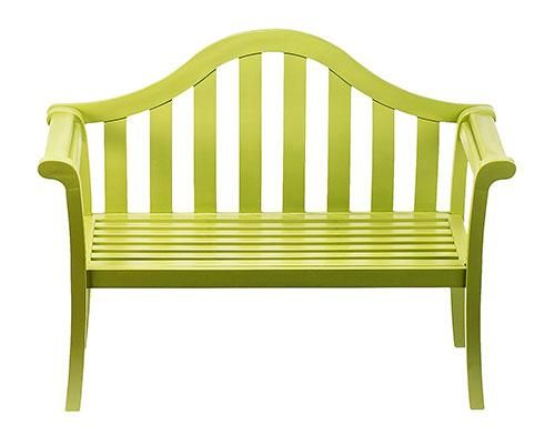 Contemporary Lime Green Arched Porch Bench. Make Your Garden Or Patio  Complete With Our Unique