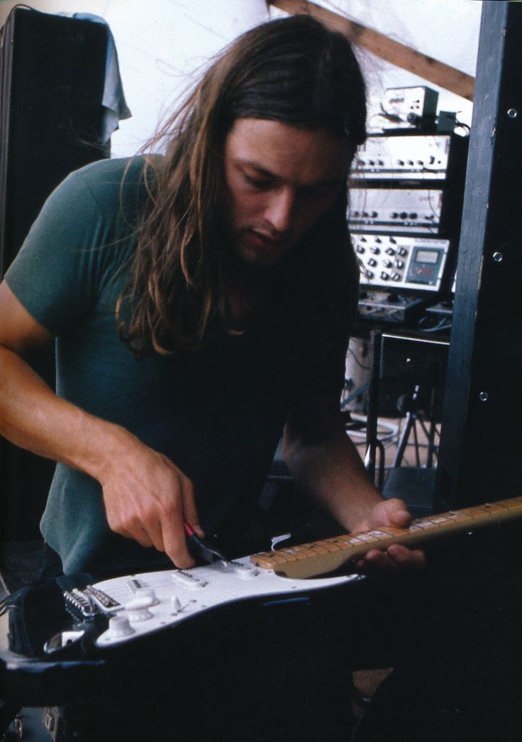 David Gilmour backstage from the book Pink Floyd - The Black Strat
