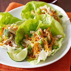 Thai Pork Wraps from familycircle.com #salads