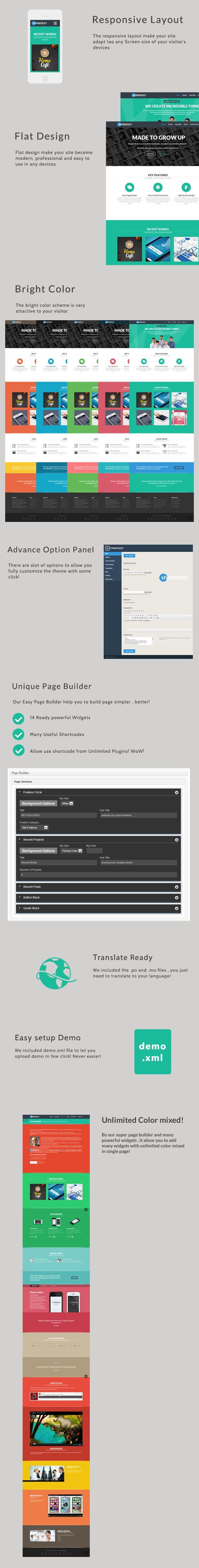 WordPress - Hypertext - Flat Portfolio Wordpress Theme | ThemeForest