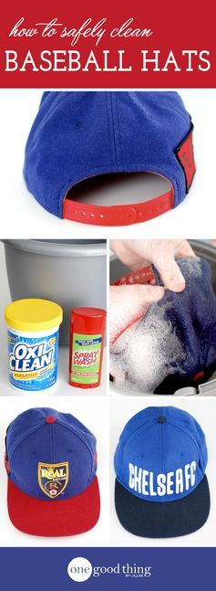 How to clean your favorite baseball caps without ruining their size and shape!  With these tips, even the filthiest cap can be cleaned safely.