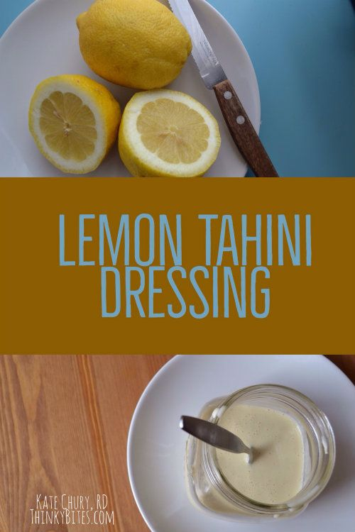 Lemon Tahini Salad Dressing Kate Chury Registered Dietitian Northwest Calgary