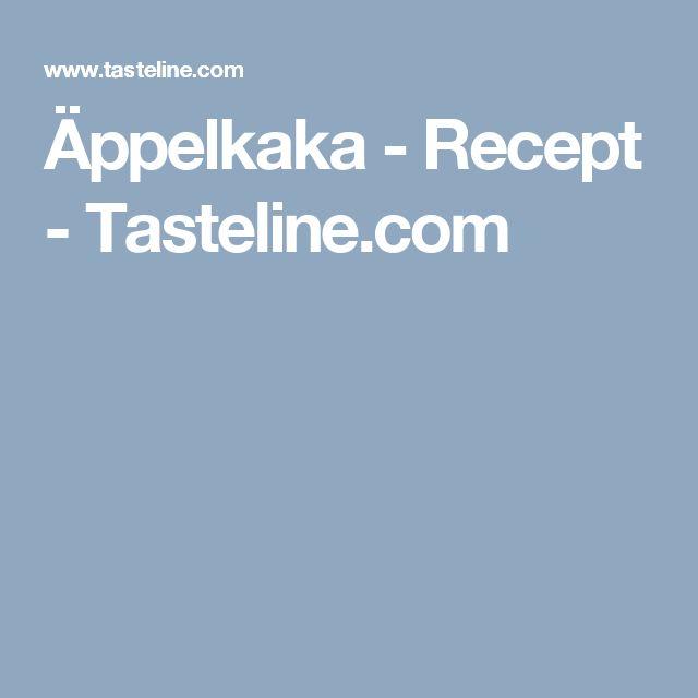 Äppelkaka - Recept - Tasteline.com