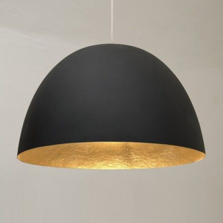 decovry.com+-+Verlichting+|++H2O+matte+hanglamp+-+Zwart+/+goud