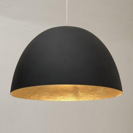 decovry.com - in-es    H2O matte hanglamp - Zwart / goud - ook in zwart-wit