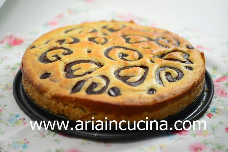 Blog di cucina di Aria: Torta decorata con crema al cioccolato e farina d'avena