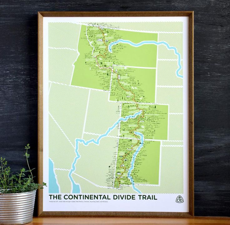 The Continental Divide Trail Print by Brainstorm
