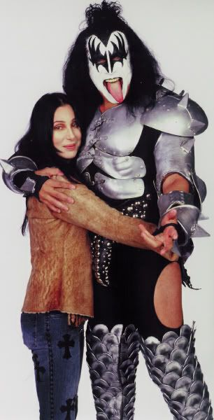 Cher and Gene Simmons