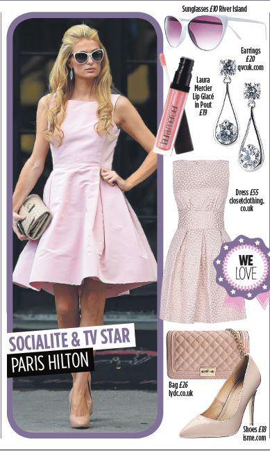 Paris Hilton Pretty in Pink - Get this look @riverisland @qvcuk @lauramercierusa @closetlondon @lydcbagsuk
