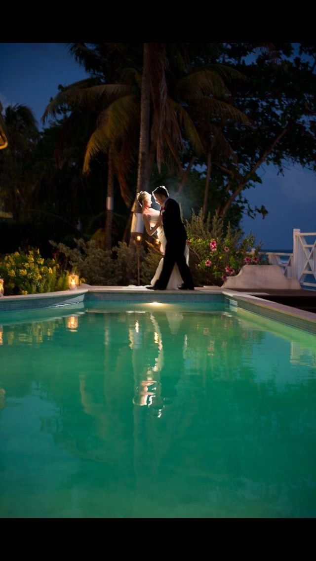 A stunning, yet intimate wedding picture in Barbados. Photography by Mark Bushkes