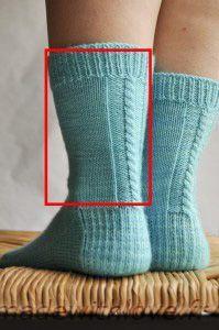 Les chaussettes de la schtroumpfette : le patron « Made with Love - talon renforcé