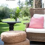 DIY Rope Ottomans - Style Me Pretty Living