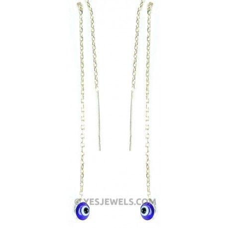 #evileye #NAZARLIK gümüş küpe güvenli takı alışveriş sitesi www.YesJewels.com `da sizi bekliyor!