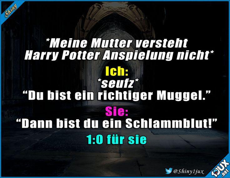 Ok, der Punkt geht an sie. #Potterliebe #Schlammblut #Muggel #Konter #dieserMoment #Humor