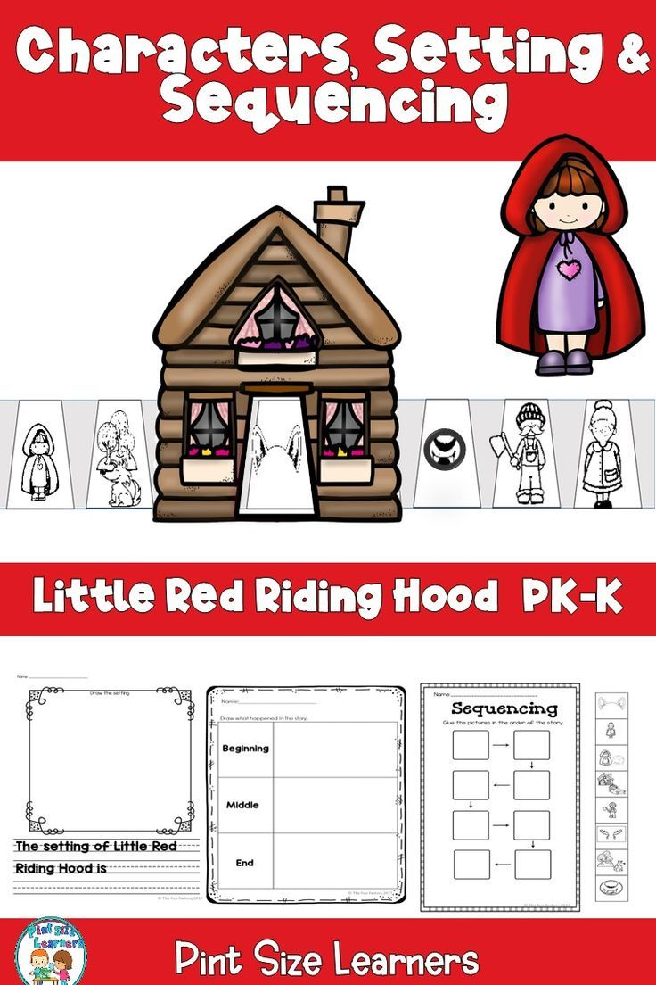 Little Red Riding Hood Is A Great Story To Use When Teaching Comprehension Skills This Resource Includ Teaching Comprehension Red Riding Hood Literacy Lessons