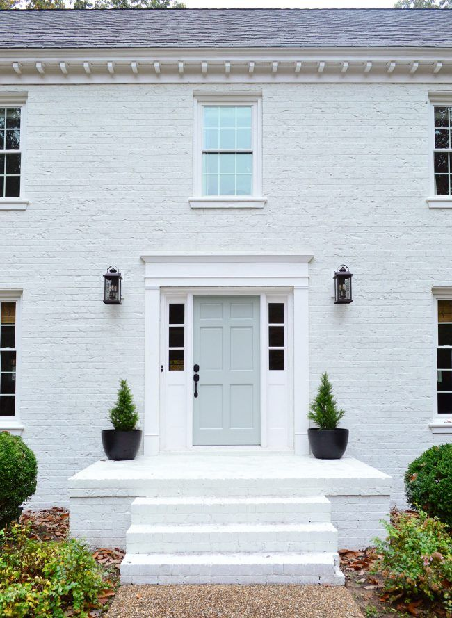 Painting Our Brick House White Young House Love Painted Brick Exteriors Painted Brick House White Brick Houses