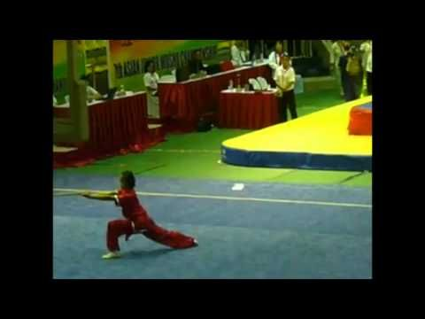 Qiangshu Compulsory 7th Asian Wushu Junior Championships Philippines Silver Medalist - Vanessa Jo Chan