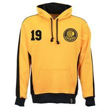 Show details for Kaizer Chiefs Number 19 Retro Hoodie - Amber/Black