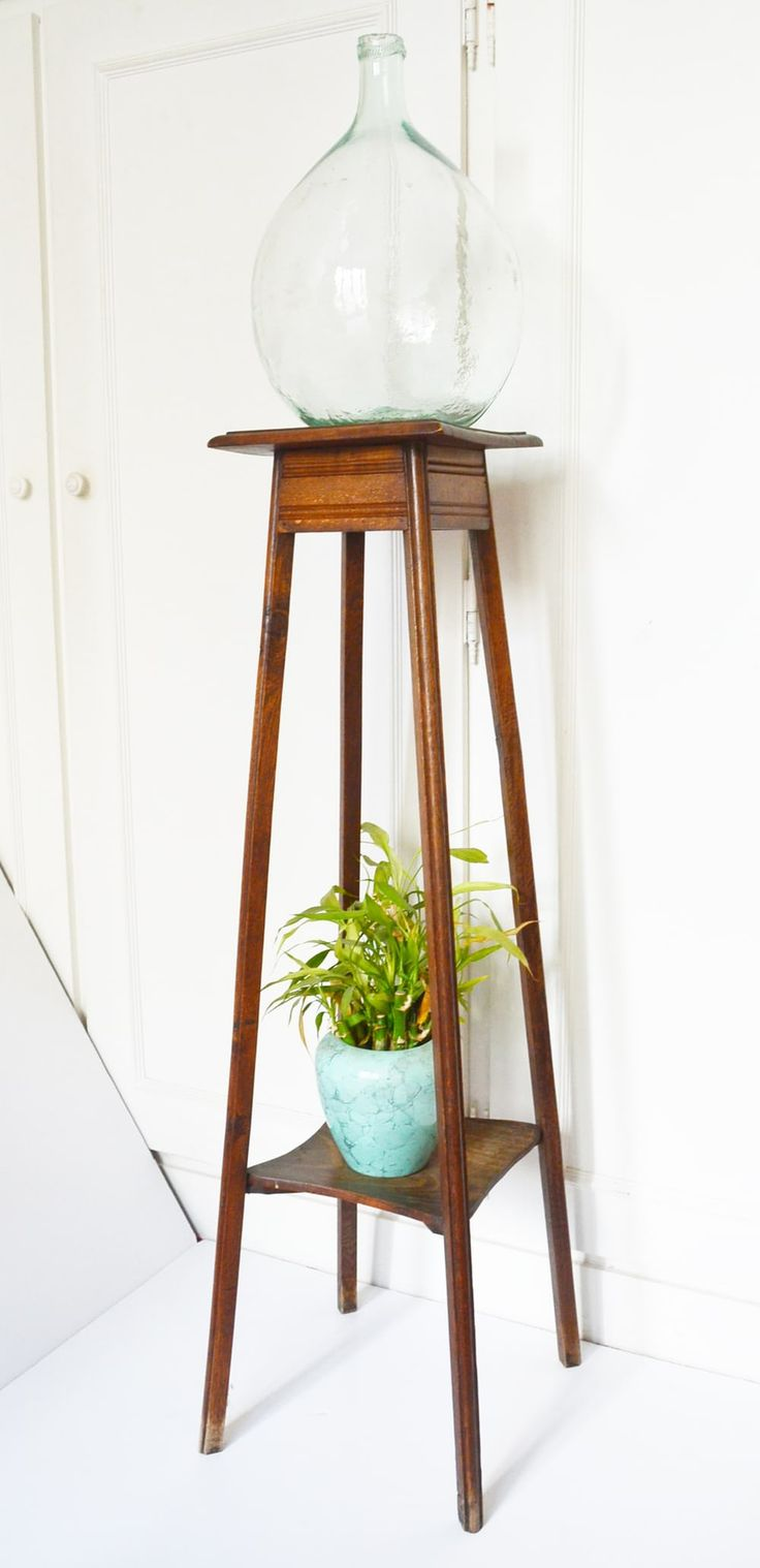 la jolie chine sellette porte plante bois vintage 1950 next stop paris pinterest. Black Bedroom Furniture Sets. Home Design Ideas