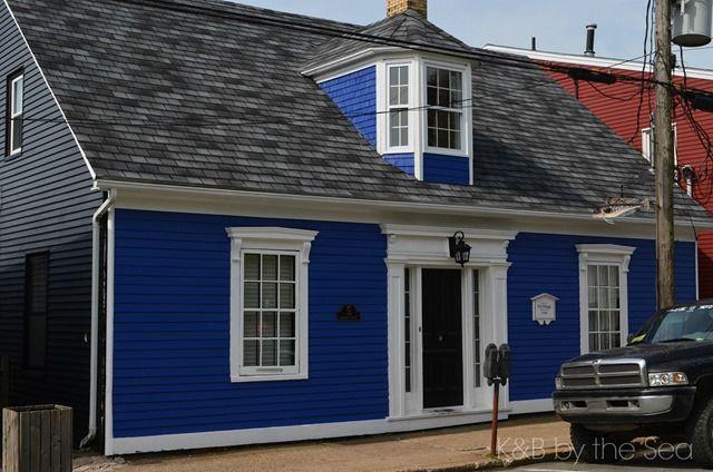 3 Sided Dormer House Exterior Blue Cottage Exterior Colors Lunenburg