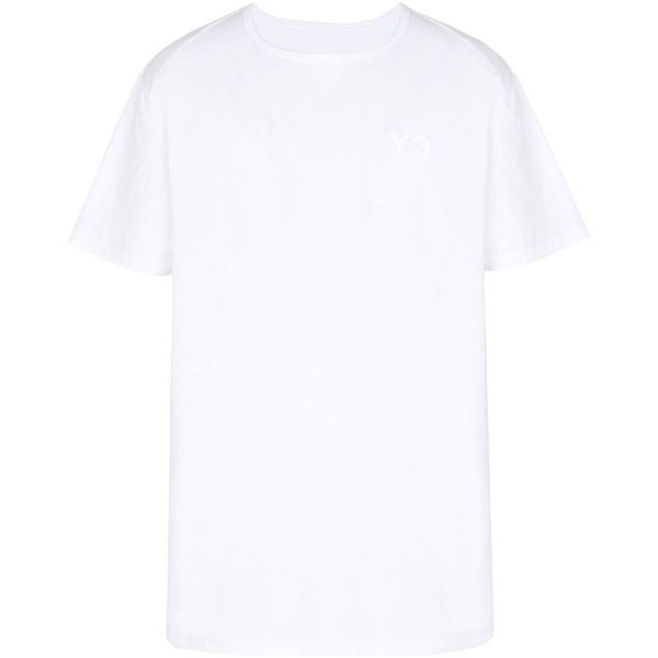 Y-3 Logo Ss Tee (€110) ❤ liked on Polyvore featuring men's fashion, men's clothing, men's shirts, men's t-shirts, white, men's regular fit shirts, mens french cuff shirts, mens patterned shirts, mens print shirts and mens white t shirts
