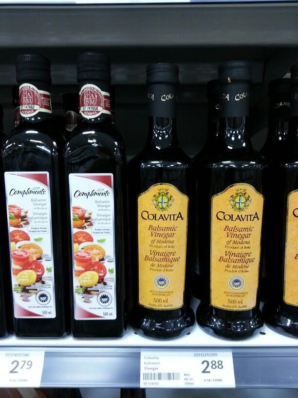 Product: Balsamic Vinegar.  Store: FreshCo (Bunting Road, St. Catharines).  For many people that follow the low FODMAP diet, balsamic vinegar becomes a low FODMAP staple for making salad dressings/vinaigrettes and marinades.  Neal Glauser, RD